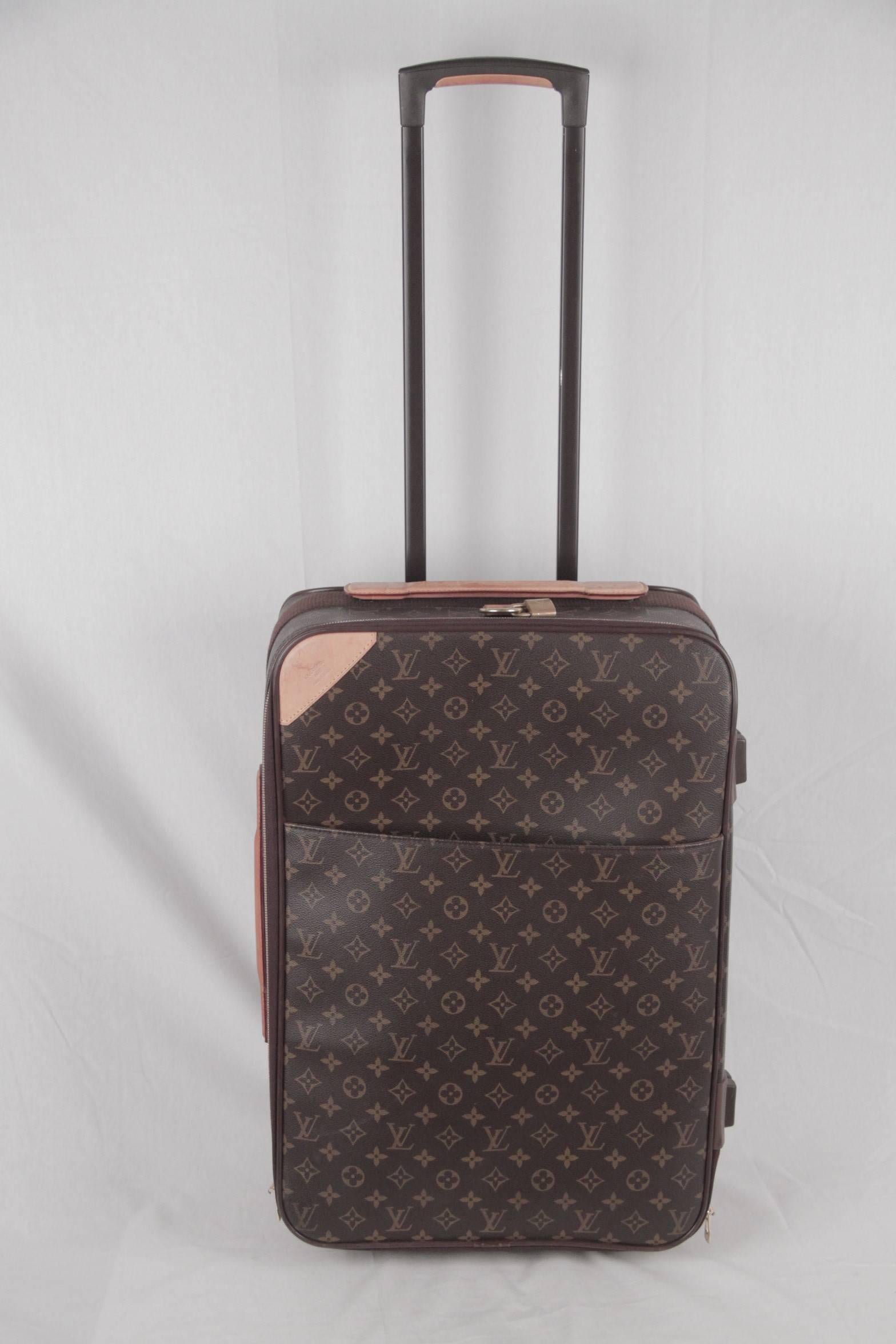 fae154a5dc71 LOUIS VUITTON Monogram Canvas PEGASE 60 Rolling SUITCASE Travel Bag at  1stdibs