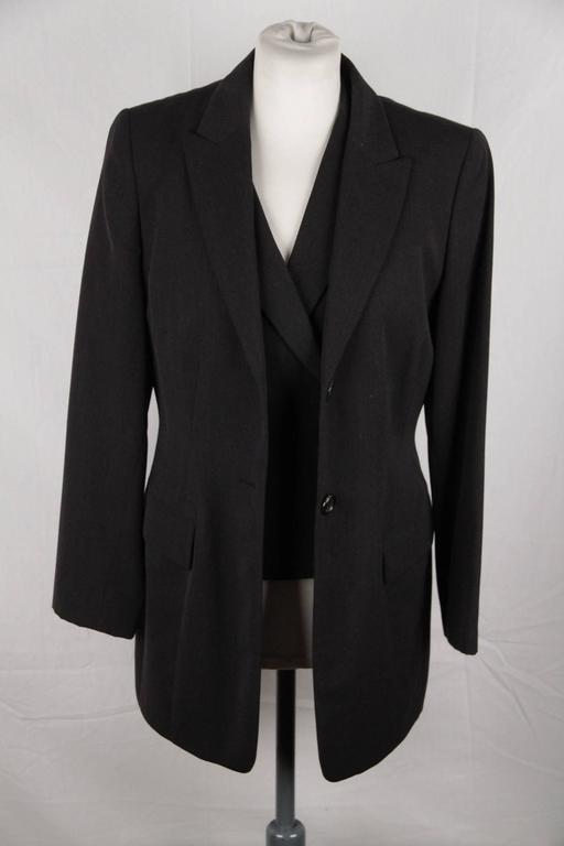 Conjunto traje lana de de piezas nueva gris Sander 3 Jil Chaleco pantalón Hermoso de zaZBqwx