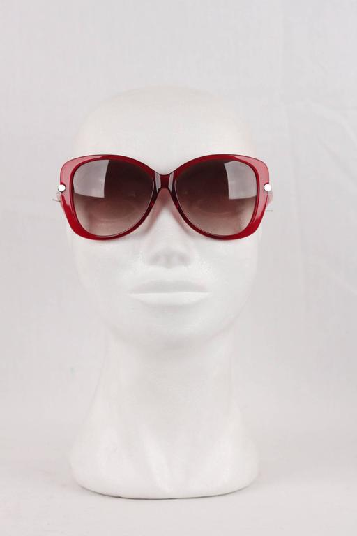 e6945a11f010f TOM FORD Eyewear Red LINDA TF 324 68F 59mm Butterfly SUNGLASSES For Sale 1