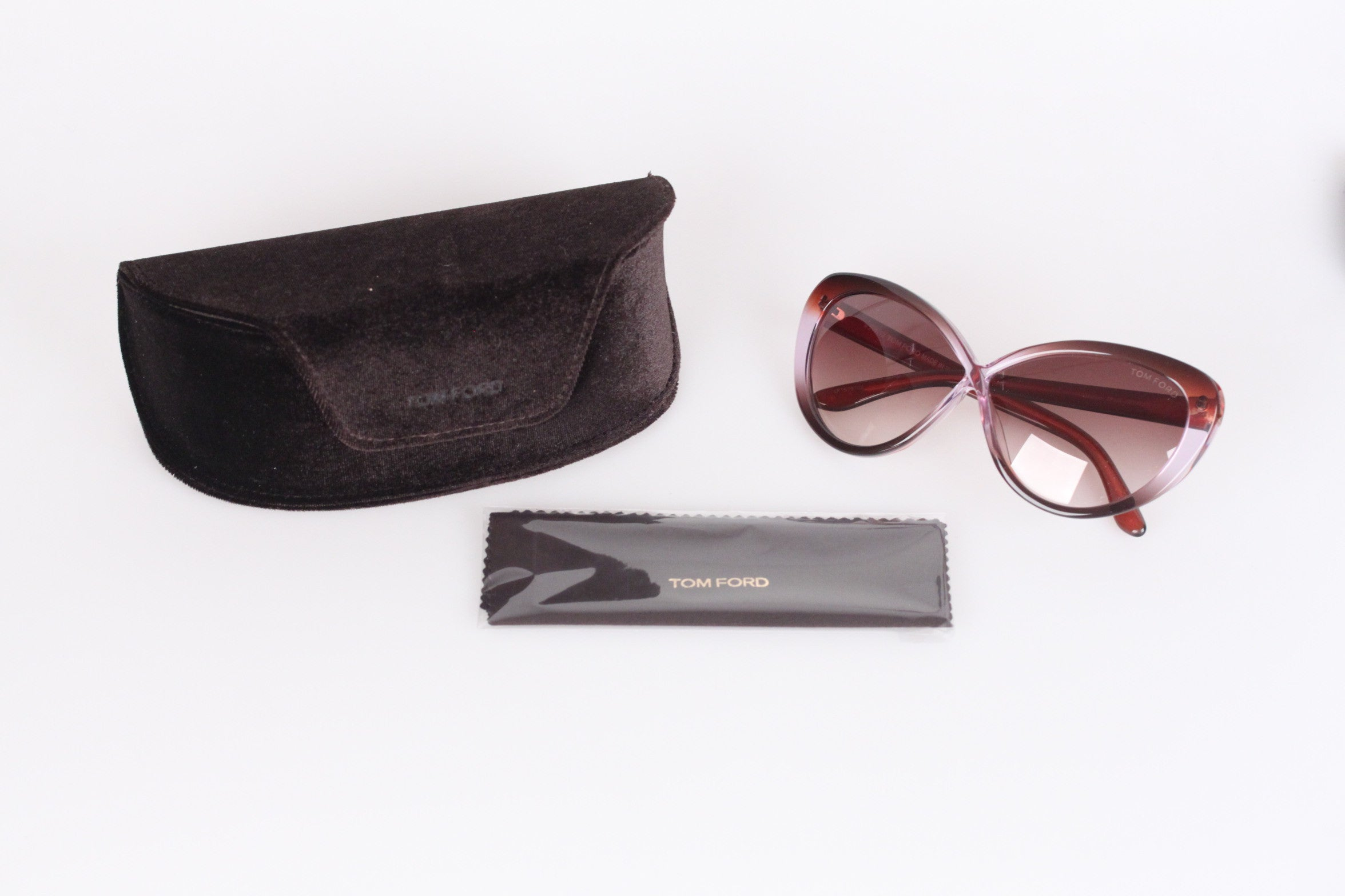 77ff675e45c5 TOM FORD Eyewear MADISON TF 253 50X 63mm Cat Eye SUNGLASSES w  CASE For  Sale at 1stdibs