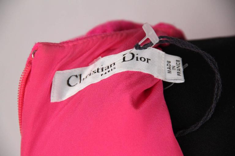 CHRISTIAN DIOR Fluo Fuchsia Wool SLEEVELESS Shell TOP Size 42 7