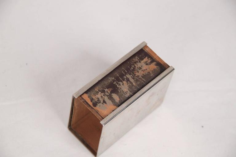Orange HERMES PARIS Vintage Silver Metal CORNUCOPIA 3 Pieces SMOKING SET For Sale