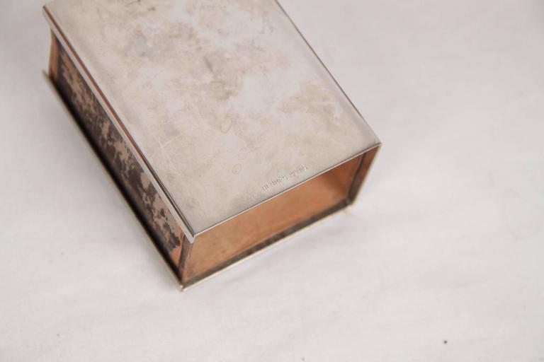 HERMES PARIS Vintage Silver Metal CORNUCOPIA 3 Pieces SMOKING SET In Good Condition For Sale In Rome, Rome