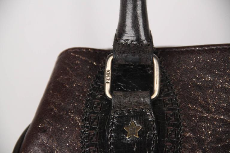 d323ac9347ca ... shop authentic fendi brown metallic leather bag de jour bag tote  satchel in excellent condition for