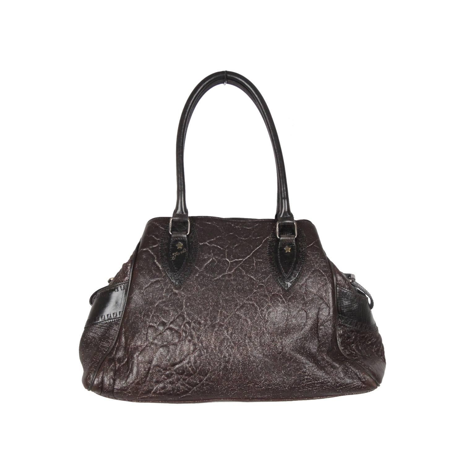5e1749baa1a4 ... shop authentic fendi brown metallic leather bag de jour bag tote  satchel for sale at 1stdibs ...