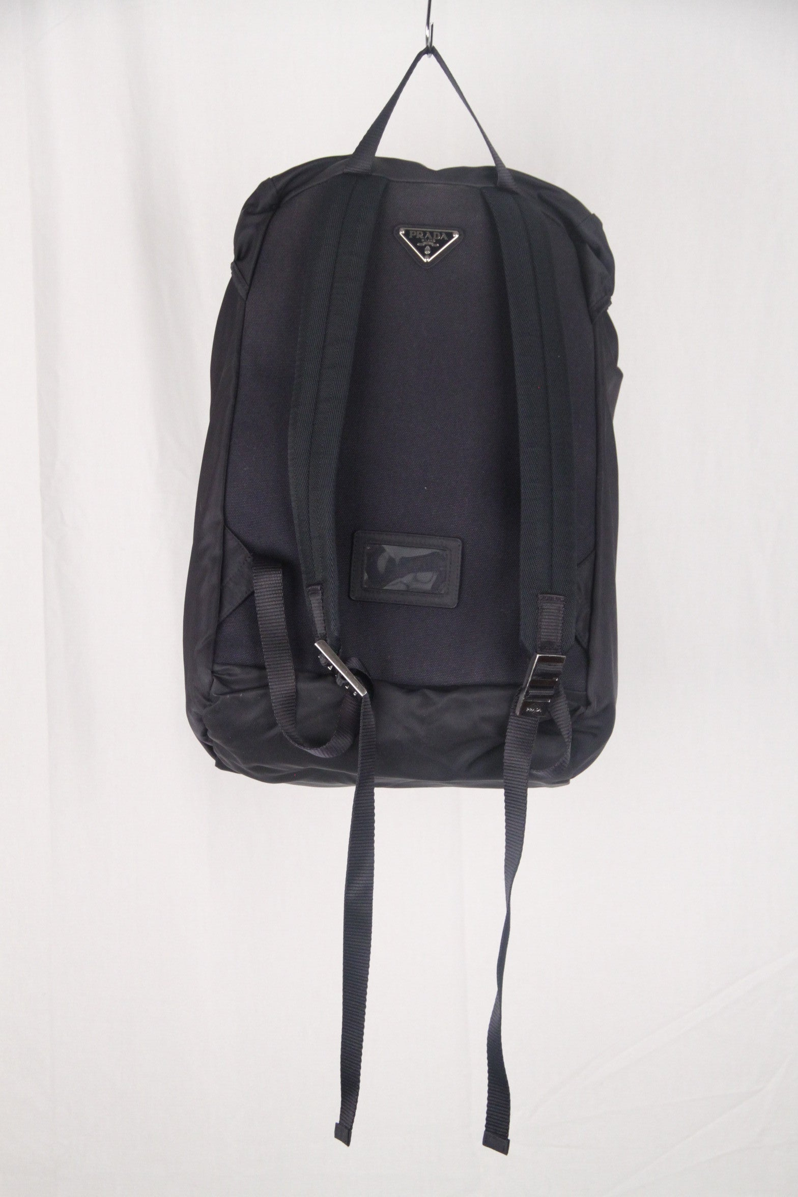3c2c0a1e92a7 PRADA Navy Blue Nylon Canvas DOUBLE BUCKLE BACKPACK For Sale at 1stdibs