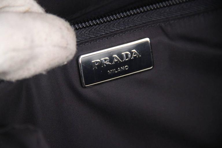 PRADA Navy Blue Nylon Canvas DOUBLE BUCKLE BACKPACK For Sale 4