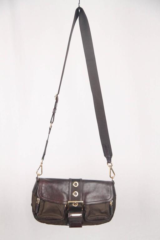 673143966ee8 PRADA Tessuto Buckle Shoulder Bag - Contemporary design and an edgy bold  look - Brown