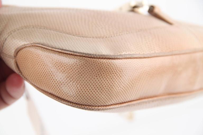 Gucci Beige Lizard Jackie Shoulder Bag Leather W/ Chain Tom Ford Era YIHrzD