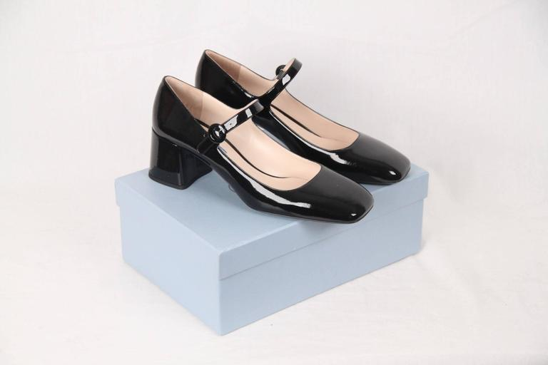 18fbc38bf PRADA Black Patent Leather MARY JANE PUMPS Shoes SIZE 40 1/2 For Sale.  Brand: PRADA - Made in Italy Condition:A+ :MINT CONDITION! Mint item
