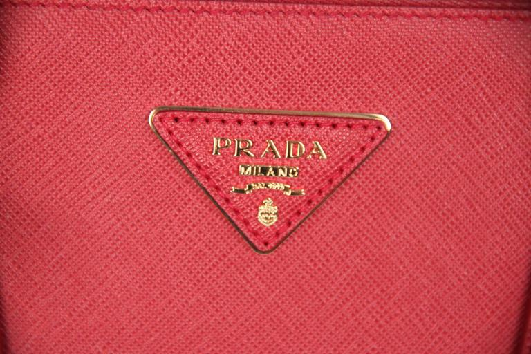 PRADA Red FUOCO SAFFIANO LUX Leather TOTE Satchel 1BA274 3
