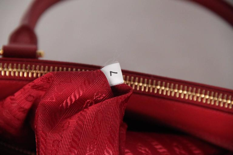 PRADA Red FUOCO SAFFIANO LUX Leather TOTE Satchel 1BA274 9