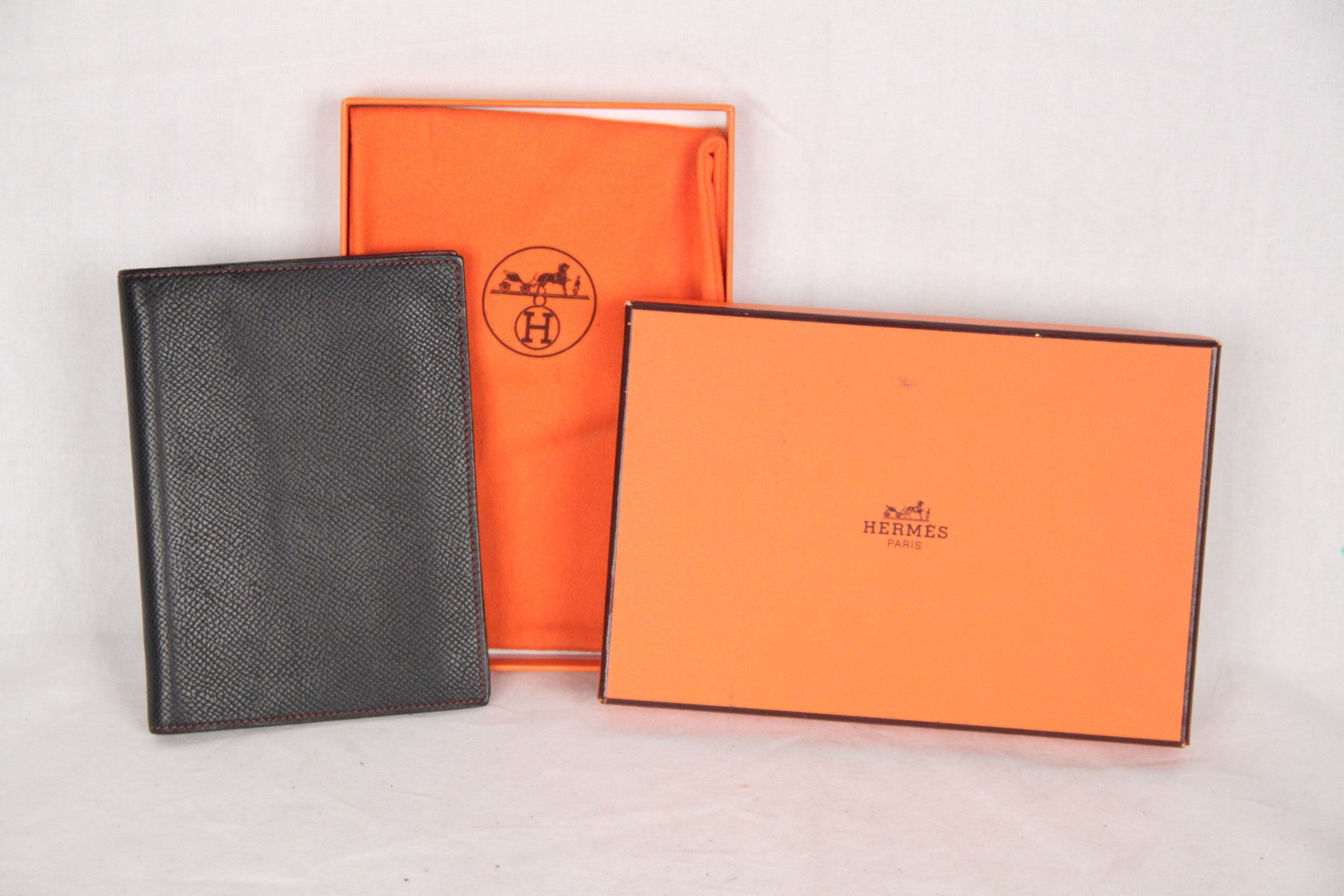 33ac199a6c617 HERMES Black Leather AGENDA COVER Day Planner ORGANIZER at 1stdibs