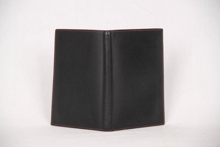 82f14e83c71e0 HERMES Black Leather AGENDA COVER Day Planner ORGANIZER For Sale 1