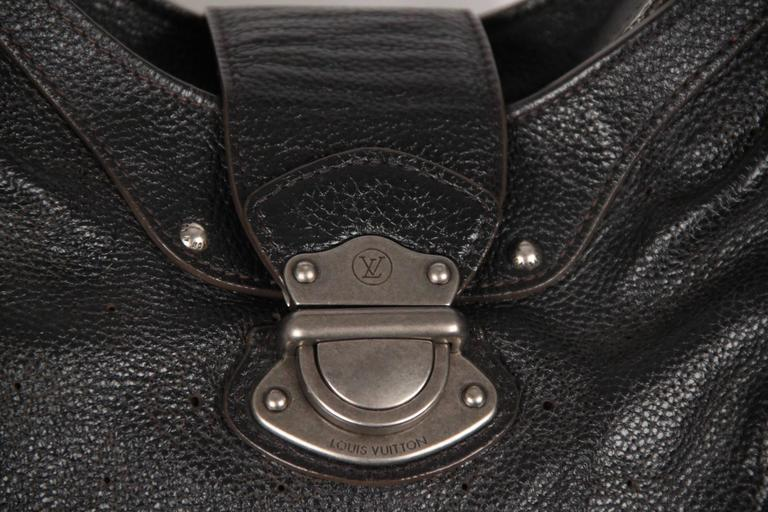 051df97334f6 Louis Vuitton Black Mahina Perforated Leather Solar PM Hobo Bag In  Excellent Condition For Sale In