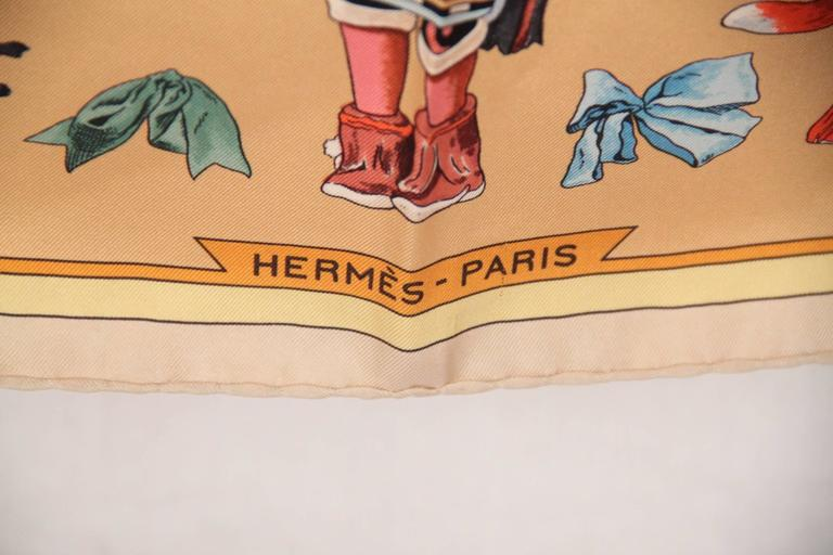 hermes multicolor silk scarf kachinas 1992 by kermit