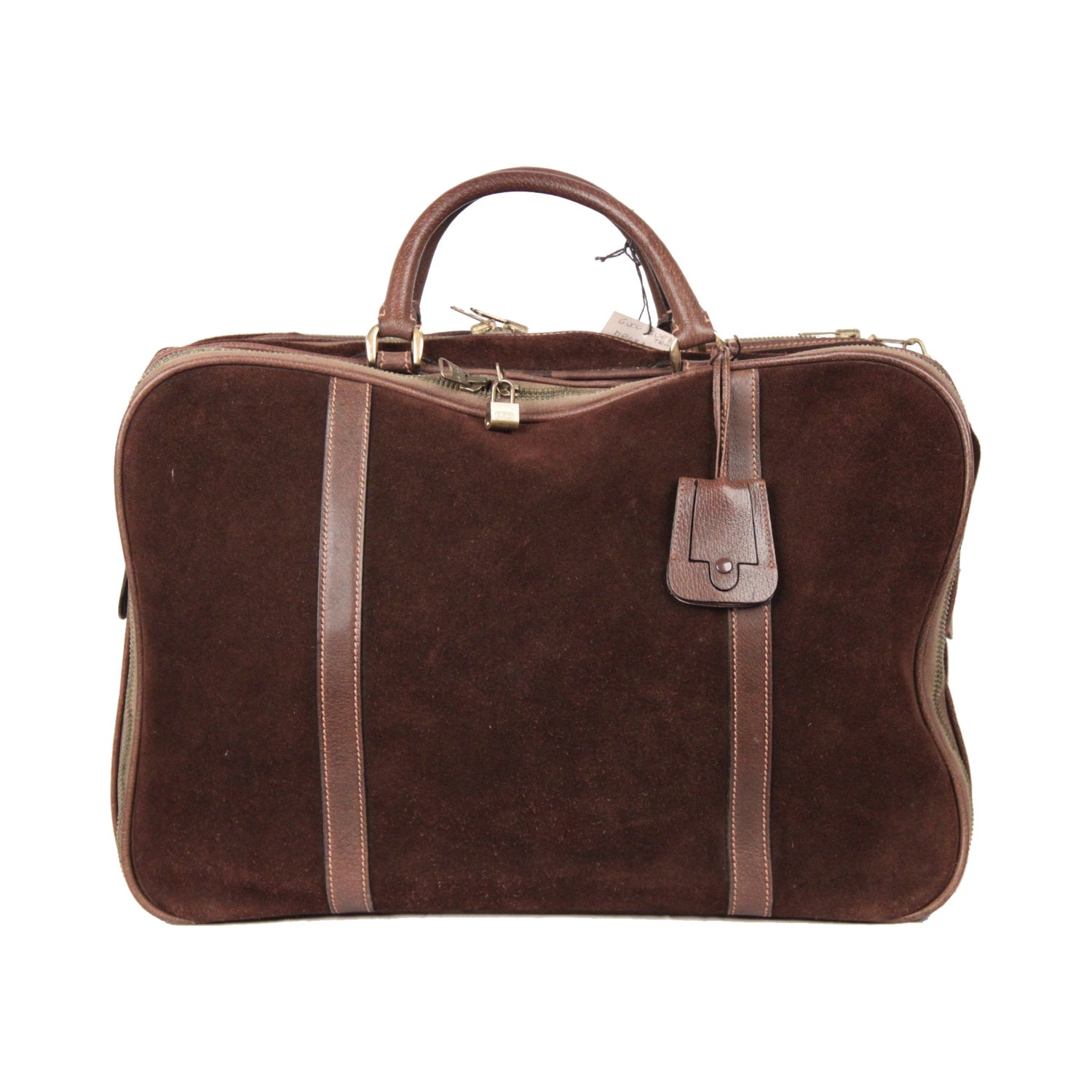 80319098687cdb GUCCI Vintage Brown Suede CABIN SIZE SUITCASE Travel Bag at 1stdibs