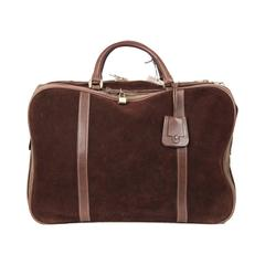 GUCCI Vintage Brown Suede CABIN SIZE SUITCASE Travel Bag
