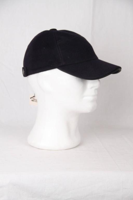 HERMES Blue BASEBALL CAP Hat SIZE 57 with BOX In Excellent Condition For  Sale In Rome df1d813bd71