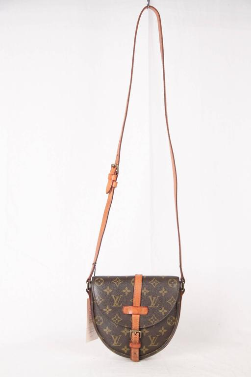 cda7fdeae1a7 Brown monogram canvas  Chantilly crossbody bag from Louis Vuitton.  Featuring a rounded shape