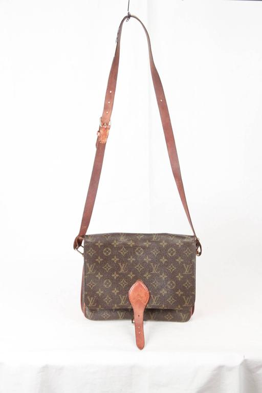 Louis Vuitton Vintage Monogram Canvas Cartouchiere GM Bag From 1983 - Brown  Monogram Canvas with b43fb1bf17409