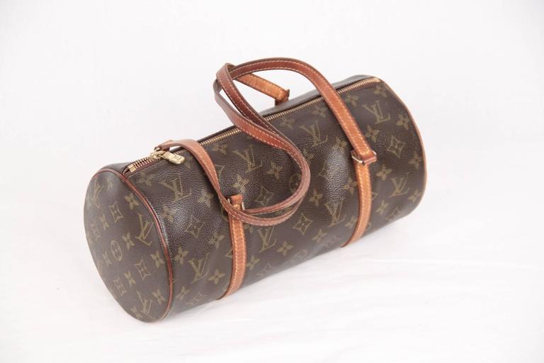 Gray Louis Vuitton Brown Monogram Canvas Papillon 30 Handbag For Sale