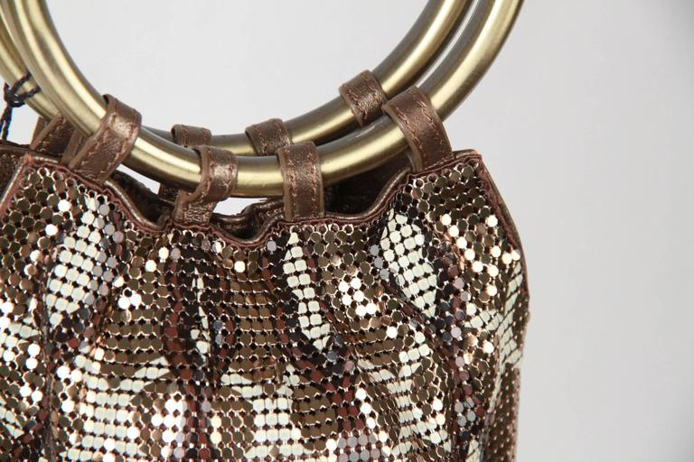 Whiting & Davis Metal Mesh Finged Evening Bag For Sale 2