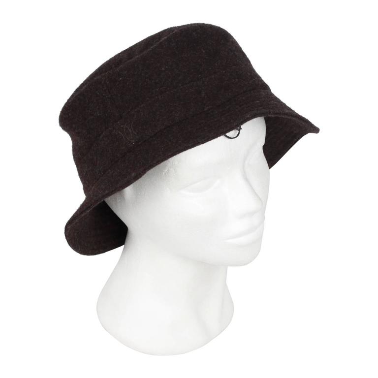 HERMES Brown Wool & Cashmere CHAPEAUX MOTSCH Bucket Hat SIZE 59