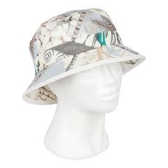 HERMES Printed Cotton BUCKET HAT Size 58