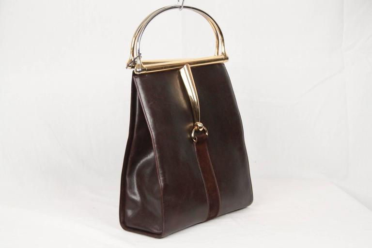 04dece2b4e8 Rare vintage GUCCI Tote Bag from the 60s. Carfted in brown leather with  brown suede