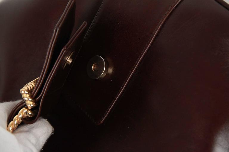 ROBERTA DI CAMERINO Brown Leather TOTE Shoulder Bag For Sale 2