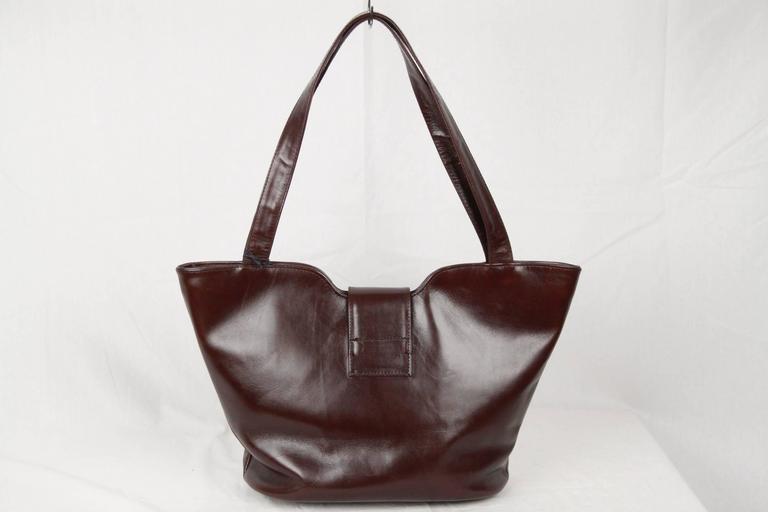 Women's ROBERTA DI CAMERINO Brown Leather TOTE Shoulder Bag For Sale