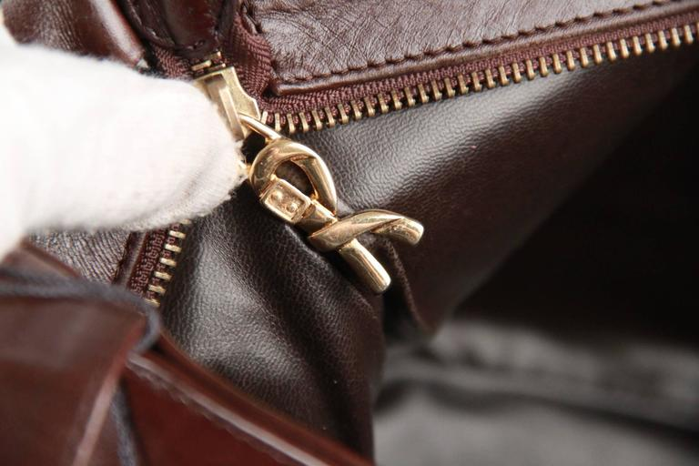 ROBERTA DI CAMERINO Brown Leather TOTE Shoulder Bag For Sale 1