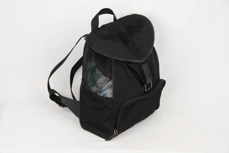 3afb6c91dc09 GUCCI Black Canvas   Mesh BACKPACK BAG In Excellent Condition For Sale In  Rome