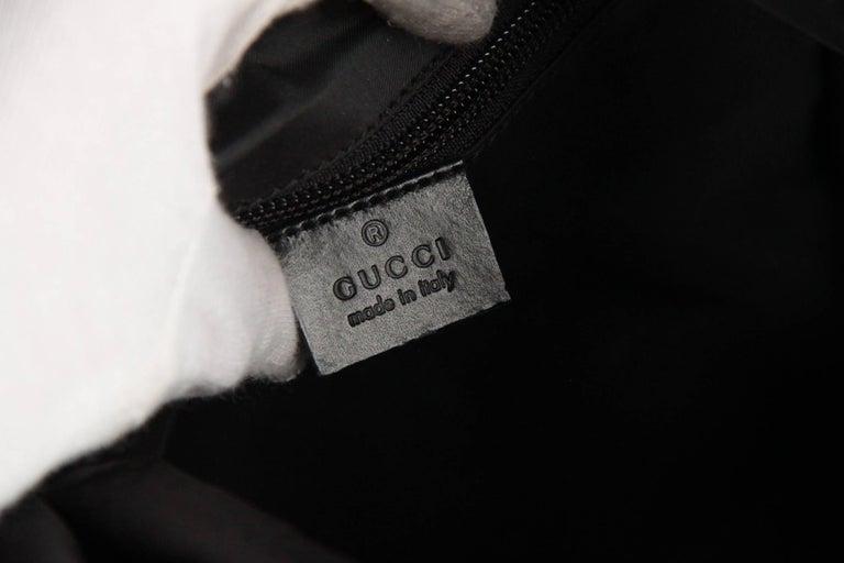 GUCCI Black Canvas & Mesh BACKPACK BAG For Sale 3