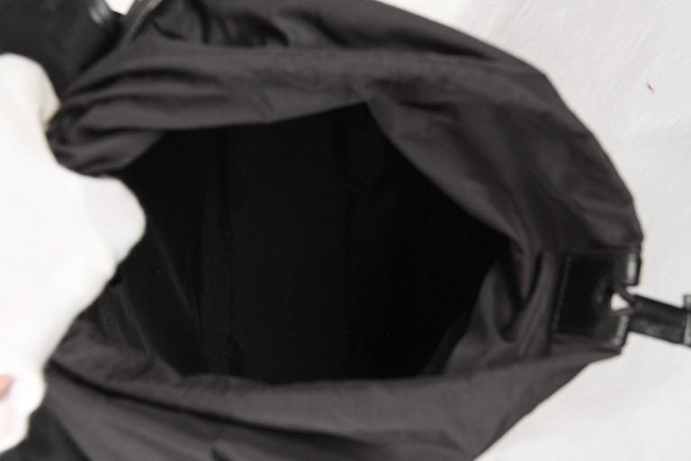59d10328d789 GUCCI Black Canvas   Mesh BACKPACK BAG For Sale 1