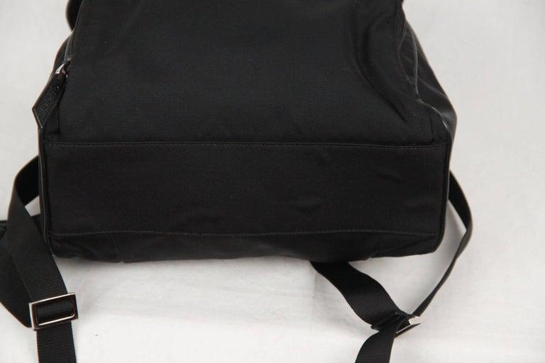 GUCCI Black Canvas & Mesh BACKPACK BAG For Sale 2