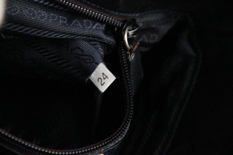 Women's PRADA Vintage Black Leather TOTE SHOULDER BAG Bucket For Sale