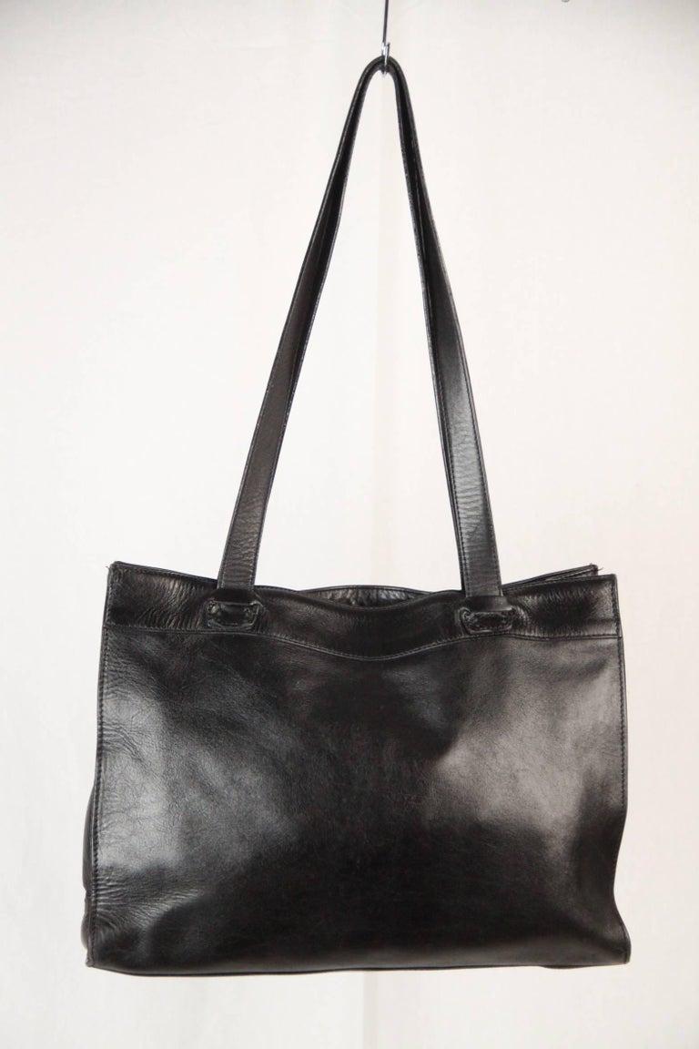 BALLY Black WOVEN Leather TOTE Shoulder Bag 6