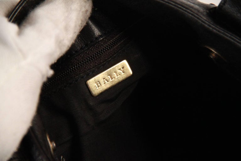 BALLY Black WOVEN Leather TOTE Shoulder Bag For Sale 5