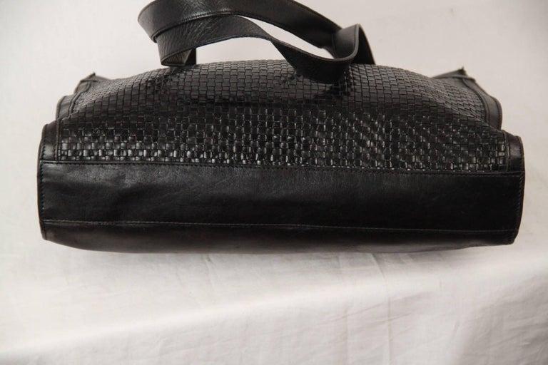 BALLY Black WOVEN Leather TOTE Shoulder Bag 5