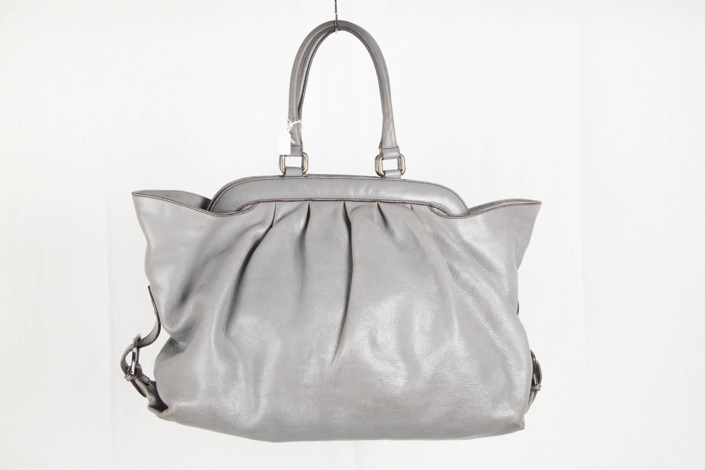 6b0d30ec30 ... sweden fendi gray leather doctor tote bag for sale at 1stdibs bb4c1  4dd34 ...