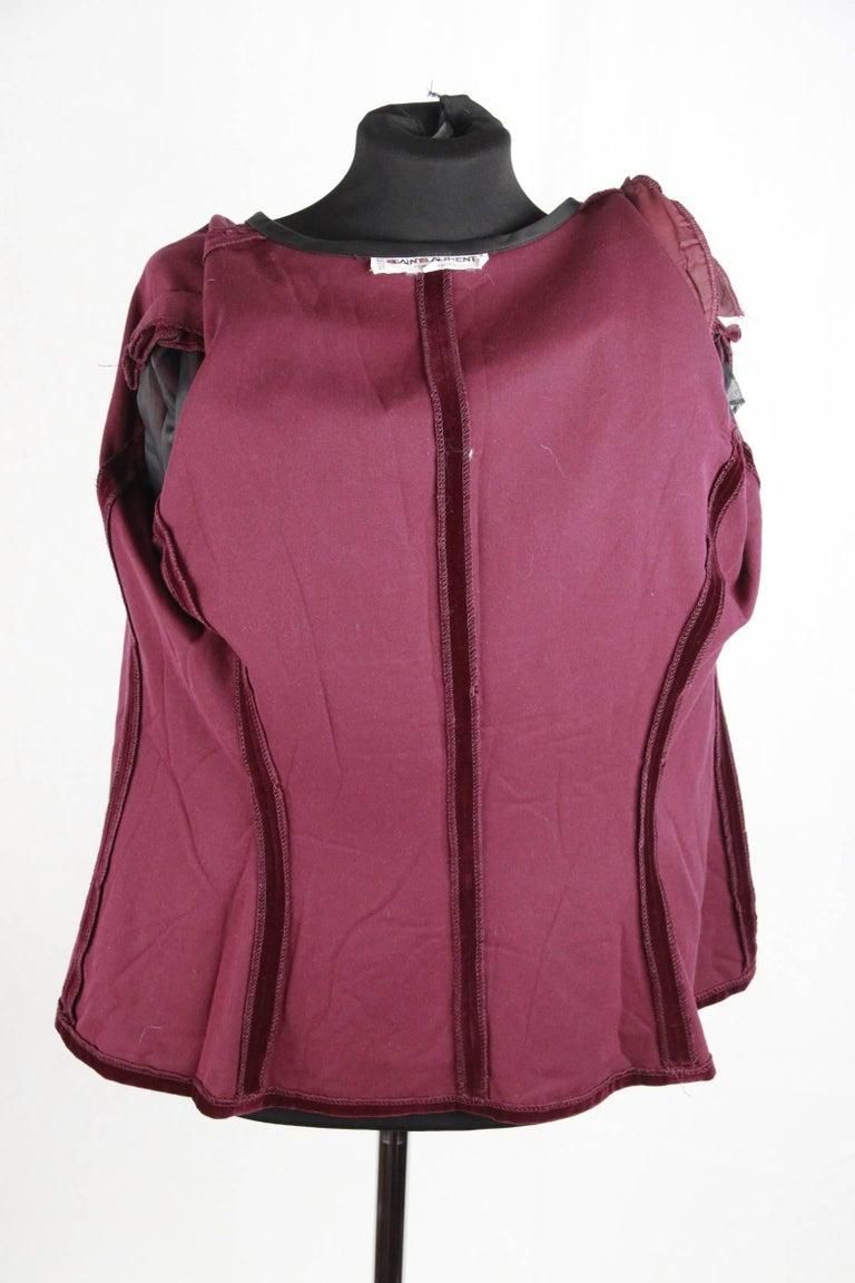 SAINT LAURENT Vintage Purple Velvet JACKET Size 44 8
