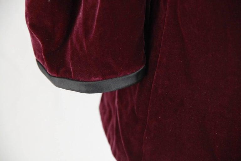 SAINT LAURENT Vintage Purple Velvet JACKET Size 44 5