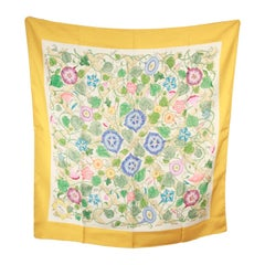 GUCCI VINTAGE Floral Silk SCARF Accornero TRALICCIO Trellis 1968