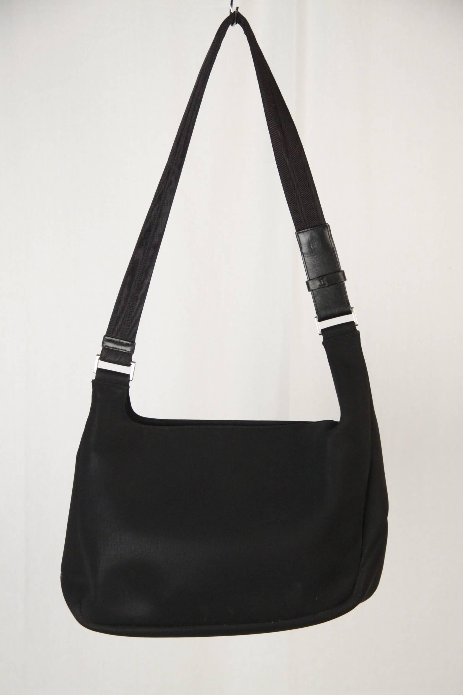 affc978b5254 ... discount prada black neoprene fabric shoulder bag in good condition for  sale in rome rome 7fb89 ...