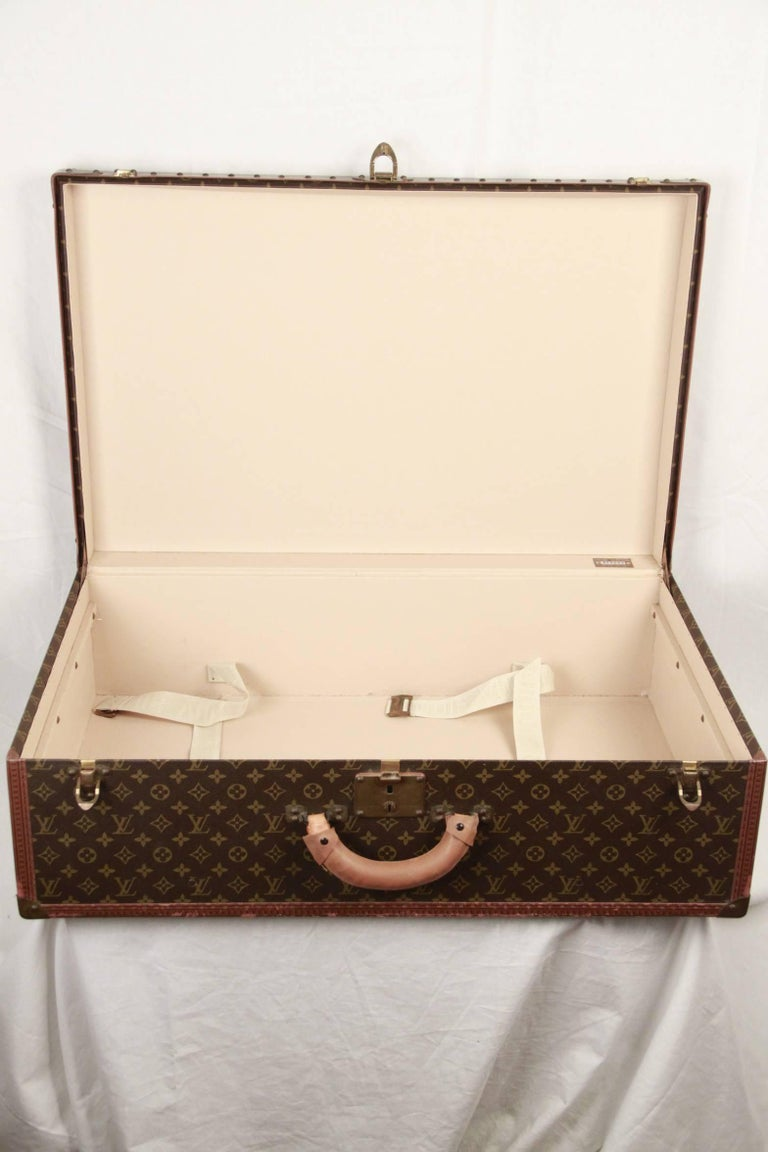 LOUIS VUITTON Vintage Monogram Canvas ALZER 80 Travel Bag TRUNK For Sale 1