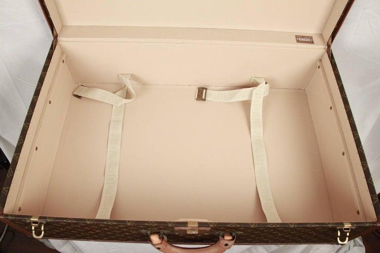 LOUIS VUITTON Vintage Monogram Canvas ALZER 80 Travel Bag TRUNK For Sale 2