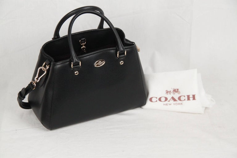 Coach Black Leather Small Margot Bag Handbag W Strap For