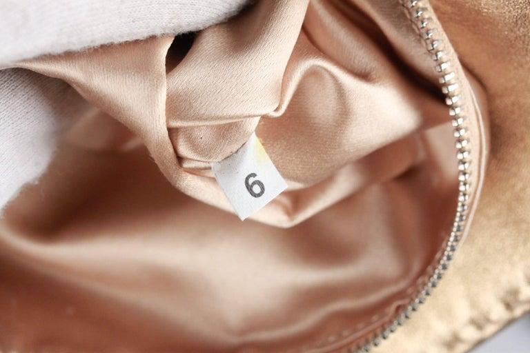 PRADA Gold Tone Leather SHOULDER BAG For Sale 2